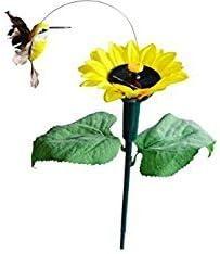 Solar Flying Butterfly Fluttering Hummingbird Sunflower Solar GardenYard