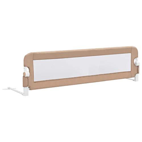 Barrera de cama extralarga,Barandilla Plegable de La Cama Infantil 150x42 cm, seguridad...