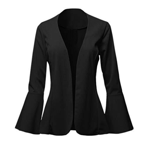 Lulupi Blazer Donna Invernale Vestiti Cardigan Corta Elegante Slim Fit Manica A Campana Lavoro Affari Tailleur Giacchino Giacca Cappotto Uffico