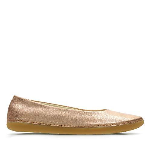 Clarks Mädchen Skylark Soar Y Geschlossene Ballerinas, Silber (Bronze Metallic), 35.5 EU