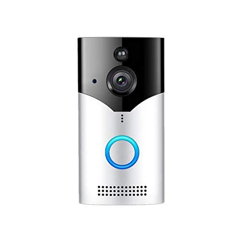 bansd Inicio Wireless WiFi Visual Cat Eye Timbre Smart Voice Monitoreo Timbre Silver