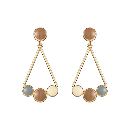 GGSDDU Pendientes de triángulo geométrico para mujer,Pendientes colgantes geométricos de metal vintage,Pendientes de plata S925