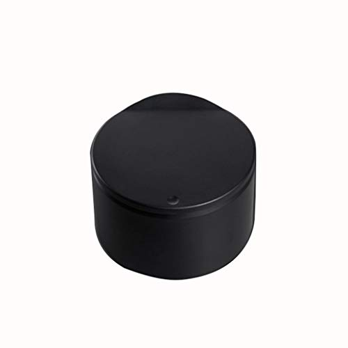 liushop Bote de Basura Bote de Basura de Escritorio con Tapa Caja de Almacenamiento pequeña Mini Caja de Almacenamiento de plástico de encimera Creativa Papeleras (Color : Black)