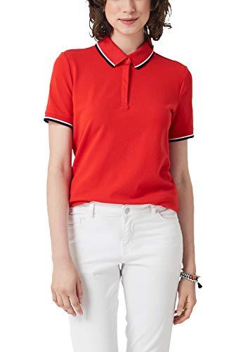 s.Oliver Damen 14.904.35.6523 Poloshirt, Rot (Brick Red 2610), (Herstellergröße: 38)