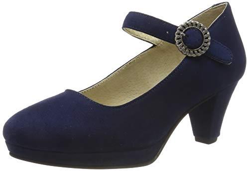 Stockerpoint Damen Schuh 6006 RiemchenPumps, Blau (Dunkelblau), 39 EU