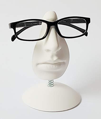 Rsj-design – Soporte para Gafas mod. Elisa – Expositor decorativo, Con forma de cara, Decoración para el hogar, Tiendas, Oficina, Regalo original, Color blanco
