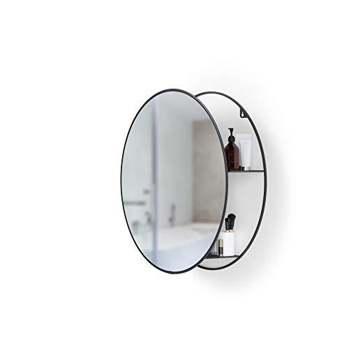 Umbra Cirko Badezimmerspiegel mit Ablage, Schwarz,, 51.1 x 13.7 x 51.1 cm