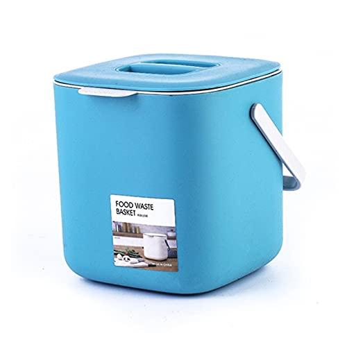 ZSY Bolsas y cestas Portátil de 2 Niveles de plástico de plástico de Basura de plástico con manija de Compost de Compost. Almacenamiento doméstico y organización (Color : 9FF202463-BL)