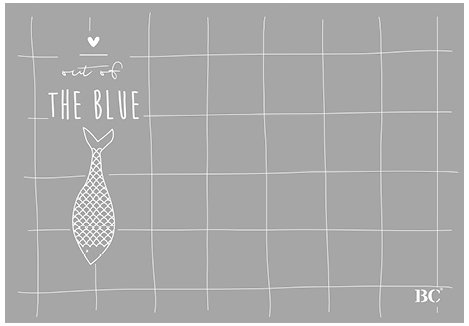 BC Set de table Poisson – Out of the Blue env. 50 feuilles Gris 49 x 34 cm