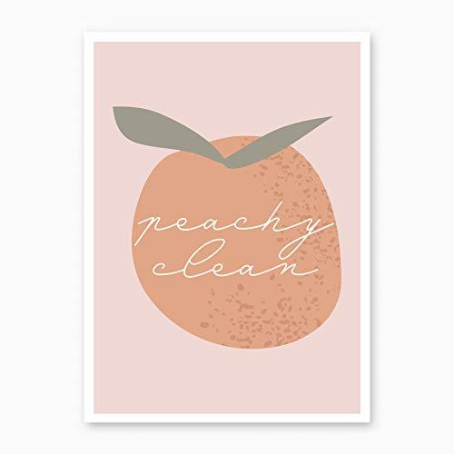 Peachy Clean Peach Print, Unframed