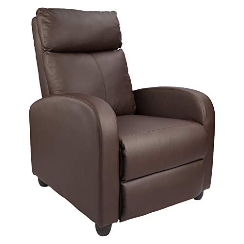 Homall Single Recliner Chair Padded Seat PU Leather Living...