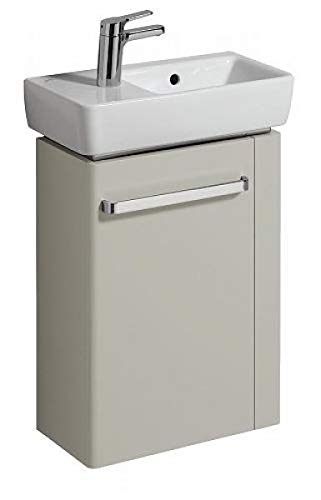 Keramag Renova Nr. 1 Comprimo NEU Handwaschbecken-Unterschrank 45 cm Hellgrau hochglanz, Hellgrau matt; Handtuchhalter rechts