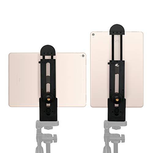 Ulanzi iPad Tablet Adaptador para trípode flexible ajustable abrazadera de soporte para Tablet para iPad Aire Pro, Microsoft Surface y la mayoría de tabletas (5inch-12inch Protector de)