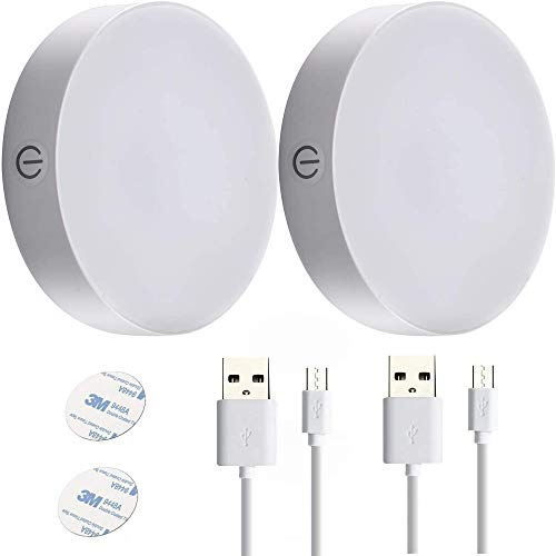 Ayxnzjsjm Luz Nocturna Infantil, [2-Pack/4000K],Tocar doble color, brillo ajustable ,recargable inalámbrica USB, se puede usar en la ahorro de Energía Luz para Habitación Bebé, Dormitorio, Sala etc.