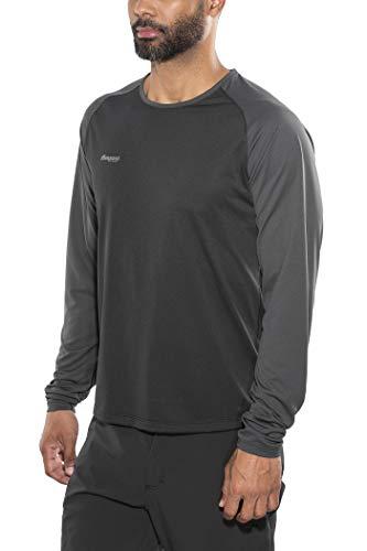 Bergans Slingsby T-Shirt à Manches Longues Homme, Black/Solid Charcoal Modèle S 2018 T-Shirt Manches Longues