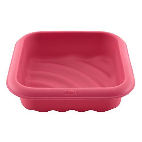 Lurch 83040 FlexiForm Welle / Kuchenform aus 100% BPA-freiem Platin Silikon für besondere Backkreationen, Innenmaß 17 x 17cm, Cotton Candy