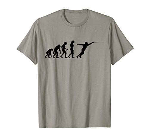 Fechten Evolution Degen Fencing Säbel Hobby Entwicklung T-Shirt