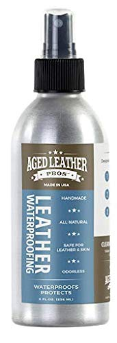 Aged Leather Pros Leather Waterproofing (8 oz) for Suede, Nubuck, and Any Leather   Protects Purses, Shoes, Jackets, Couches, Auto Interior, Saddles and Much More