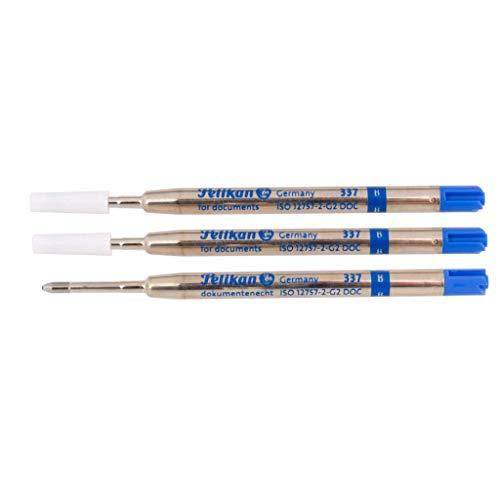 Pelikan Kugelschreibermine 337 - Blau B - Breit - 3er Set