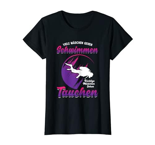 Damen Tauchen Schwimmen Tiefseetauchen Spruch Geschenk T-Shirt
