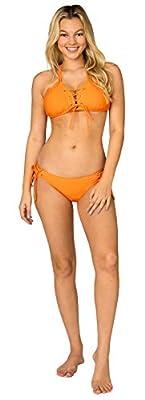 INGEAR Women's Adjustable Halter Top Sliding Triangle Swimsuit Bikini Set Padded Bra Beach Bathing Suits
