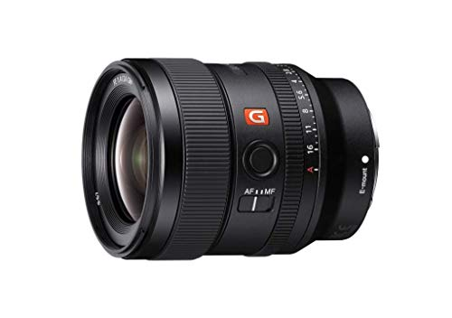 Sony E-Mount FE 24mm F1.4 GM Full Frame Wide-Angle Prime Lens (SEL24F14GM), Black (Renewed)