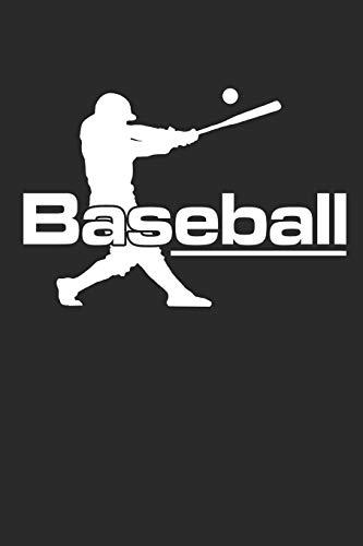 BASEBALL: Notebook Baseballspieler Notizbuch Baseball Journal 6x9 squared kariert