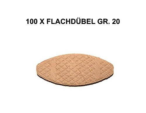 B2Q Verbindungsplättchen Flachdübel Formfeder Gr.20 FSC® 56x23x4mm 100 Stück (0033)