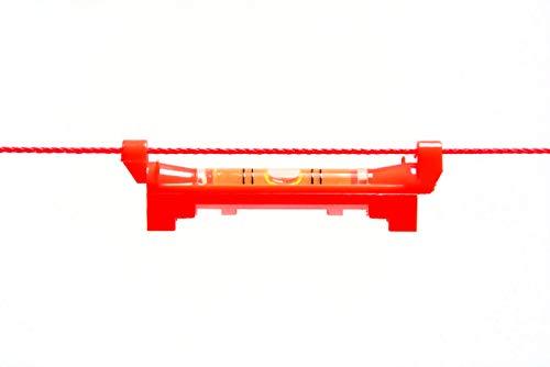 Zaun-Nagel Schnurwaage Wasserwaage 75 mm Richtwaage Maurerwaage Zaunwaage