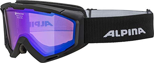 ALPINA PANOMA Skibrille, Unisex– Erwachsene, black matt, one size