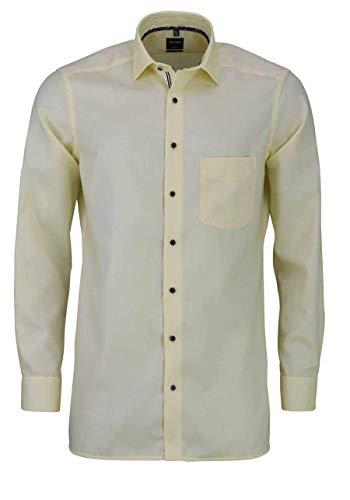 OLYMP Herren Hemd Baumwolle Modisch Gelb 40
