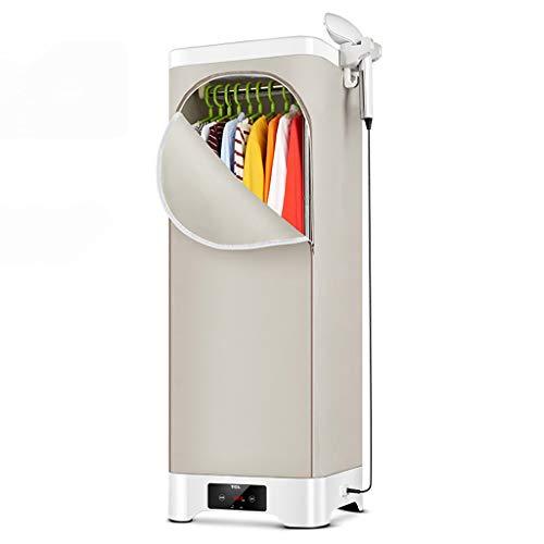 AnnGYJ Wäschetrockner Und Bügelmaschine, Brown Touch Dry Konstante Temperatureinstellung Doppelte Lagerung Und Trocknung Für Haushaltswäsche-Pflege-Maschine, 30kg Kleidung Tragen, 900W