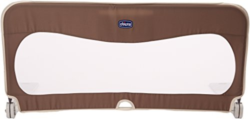 Chicco Natural - Barra de cama abatible (con bolsillo 135 cm), color marrón