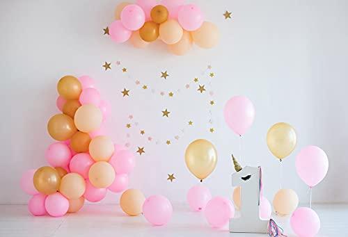 Fondo de fotografía Globo Fiesta de cumpleaños Baby Shower Pastel niño Retrato telón de Fondo Accesorios de Estudio fotográfico A13 10x10ft / 3x3m