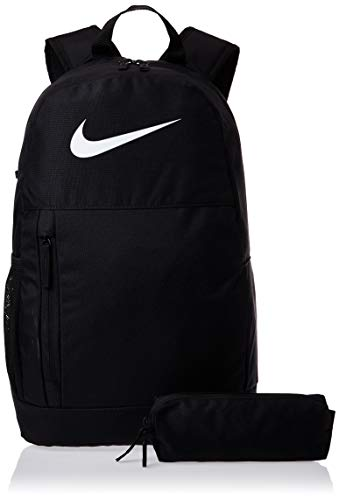 Nike Kinder Y NK ELMNTL BKPK - Swoosh GFX Sports Backpack, Black/Black/(White), MISC