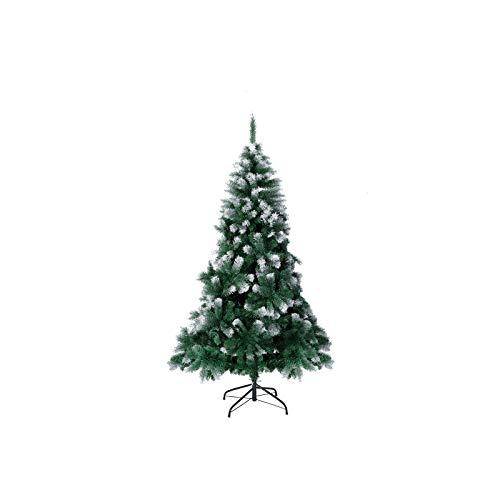 TopVita Künstlicher Weihnachtsbaum hochwertiger Tannenbaum Christbaum, mit Metallständer Material PVC, 150 cm Weihnachtsbaum mit Schnee-Effekt Mehrfarbig, Innen und Außenbereich