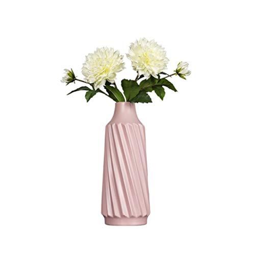 ZANZAN jarrones de cerámica florero moderno estilo minimalista florero creativo moda flor contenedor para el hogar oficina decoración de escritorio (rosa) florero decoración