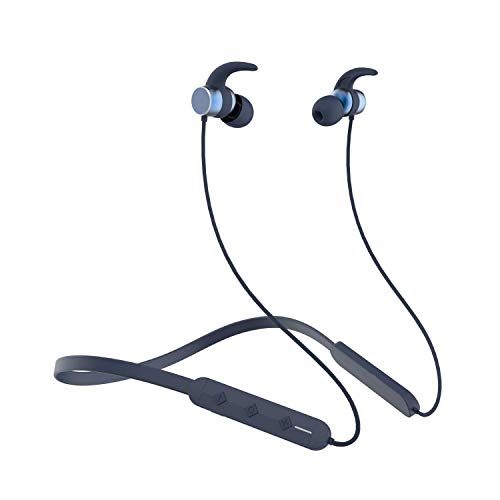 Wireless Earphones Headphones for Samsung Galaxy A71 5G UW Sports Bluetooth Wireless Earphone with Deep Bass and Neckband Hands-Free Calling inbuilt Mic Headphones with Long Battery Life and Flexible Headset (B-260, Black)
