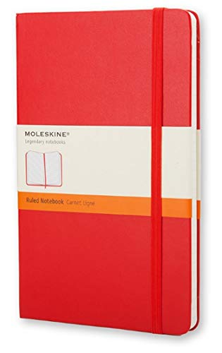 """Moleskine Classic Notebook, Hard Cover, Pocket (3.5"""" x 5.5"""") Ruled/Lined, Scarlet Red, 192 Pages"""
