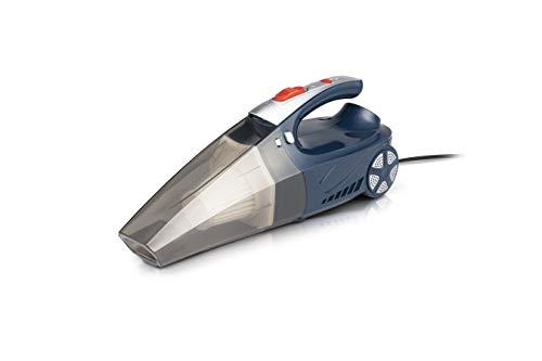 WOLFGANG Multifunktionaler Autostaubsauger mit Kompressor und digitaler Anzeige, Handstaubsauger für das Auto mit 4 Funktionen, Staubsaugen, Reifen aufpumpen, Reifendruck messen, LED Licht, 120 W