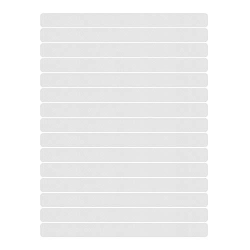 15 x Anti Rutsch Streifen | Sossai SCALIO | Maße: 5cm x 63cm, | selbstklebend | transparent | Schutz und Sicherheit für Treppen, Böden, Kanten…