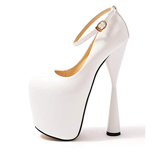 QZX Shoes Zapatos de tacón alto para mujer, zapatos de novia, tacón...