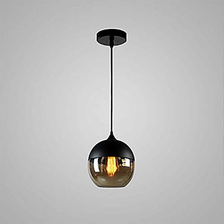 MQW LED Schwarz Rundes Glas Verstellbar Schmiedeeiserne Kronleuchter 60W Das Leben verschnern