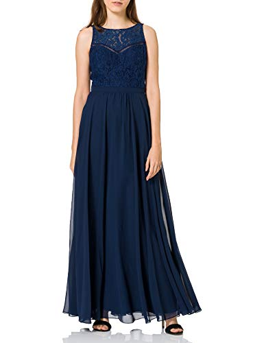 Laona Damen Evening Dress Kleid, Blau (Stormy Blue 7011), 36 (Herstellergröße: S)