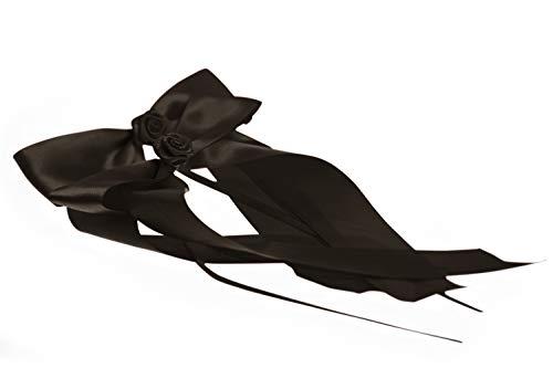 FlexiStore 10 Antennenschleifen mit Rose Deko Schleifen Hochzeit Auto - ASR-Schwarz