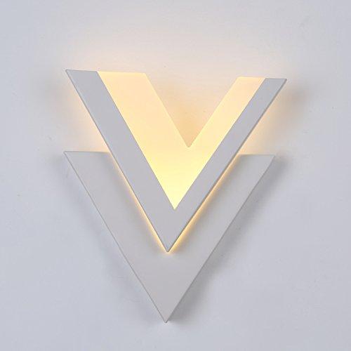 GKJ Moderne Simple Led Fashion Art Romantique Réchauffez Applique Salon Corridor mur Lampe de chevet mur V - Shaped (Couleur : A)