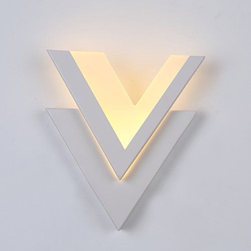 GKJ Moderne Simple Led Fashion Art Romantique Réchauffez Applique Salon Corridor mur Lampe de chevet mur V - Shaped (Couleur : A)