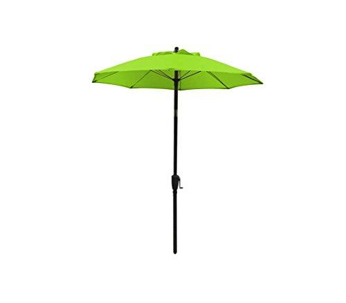Dehner Sonnenschirm Vido, Ø 150 cm, Aluminium/Polyester, grün