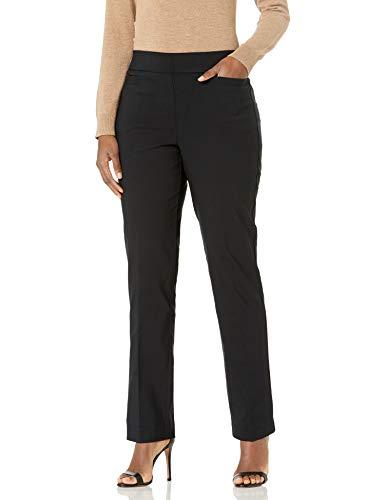 Briggs New York Women's Super Stretch Millennium Welt Pocket Pull on Career Pant, Black, 12