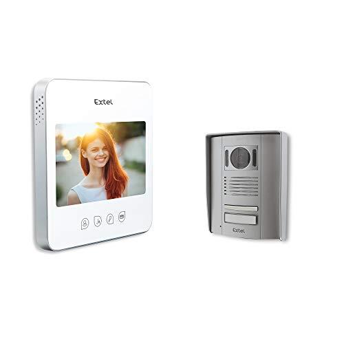 Extel - Interphone vidéo Quattro 2 Blanc -Ecran de 7...